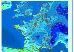 1 temperature europe mars 2020